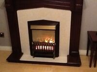 Mahogany Surround with Electric Fire