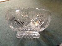 Pretty heavy cut glass bowl.