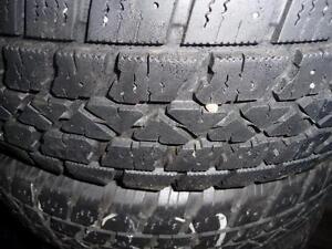 4 pneus d'hiver 185/65/15 Artic Claw Winter, 50% d'usure, mesure 8, 6, 6 et 4/32.