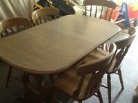 Kitchen dining table and 6 chairs