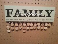 wooden Family Birthday Calendar perfect mothers day gift