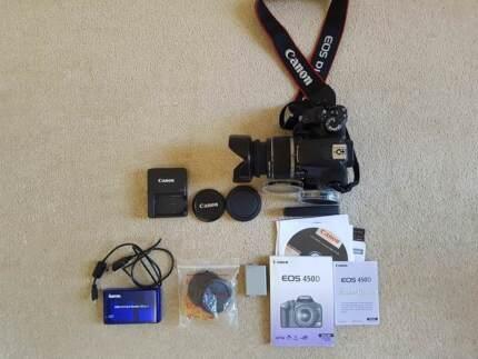 Canon 450D + Lens, 3 Batteries, Battery Grip & More