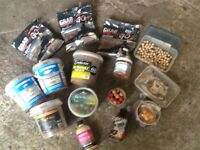 Selection of course fishing bait boilies etc in large tool box