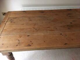 Pre loved farm house table