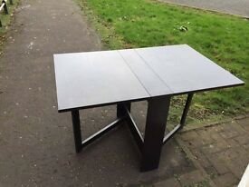 Black Folding Dining Table