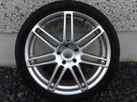 22INCH 5/130 RS4 TYPE AUDI Q7,VW TOUAREG ETC ALLOY WHEELS WITH TYRES FIT MOST MODELS