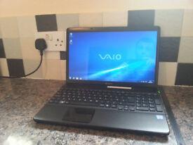 "Sony VAIO VPCEB4 15.6"" LAPTOP, FAST CORE i7 3.50GHz, 8GB RAM, 500GB, WIFI, BLUETOOTH, WEBCAM, DVDRW"