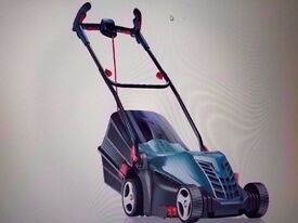 bosch lawnmower medium large gardens USED TWICE AS NEW (Ergoflex handles)&flymo strimmer