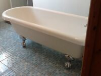 Freestanding roll top bath, basin & toilet for sale