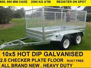 10x5 TANDEM HOT DIP GALVANISED TRAILER 2000 KG GVM ON SALE NOW Pakenham Cardinia Area Preview