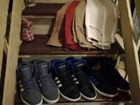 MAKE ME AN OFFER !! 3 x almost new mens adidas hoops trainers..2 x size S mens coats plus others
