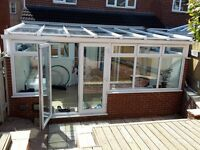 A beautiful Pilkington K Glass™ Lean-to Conservatory with Pilkington Activ™Blue Glass Roof.