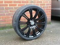 18 inch Staggered & Concaved Bmw Alloy Wheels & Tyres (e36,e46,330,Mv2,M3,e60,e90,insignia,m3,m5,vw)