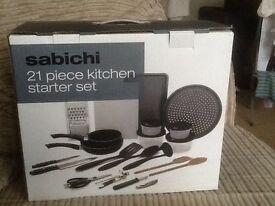 Sabichi 21 piece kitchen starter set , brand new unopened