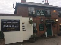 Urgently needed Full Time / Part Time Bar Staff - The Jolly Farmers Pub & Restaurant