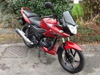 Honda CBF125, Red, 2014, low mileage, FSH, new mot,Can deliver