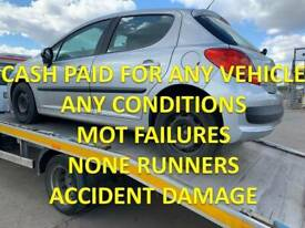 TOP MONEY PAID FOR UNWANTED SCRAP CARS VEHICLE NONE RUNNERS MOT FAILURES SUTTON COLDFIELD