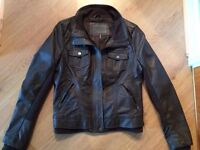 brand new female jacket, Ci Sono by Cavalini, brown leather,
