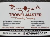 TROWEL-MASTER Plastering Company (contractor)