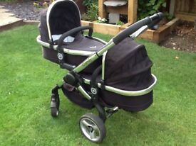 I candy peach. Black magic single & double pushchair and double carrycot