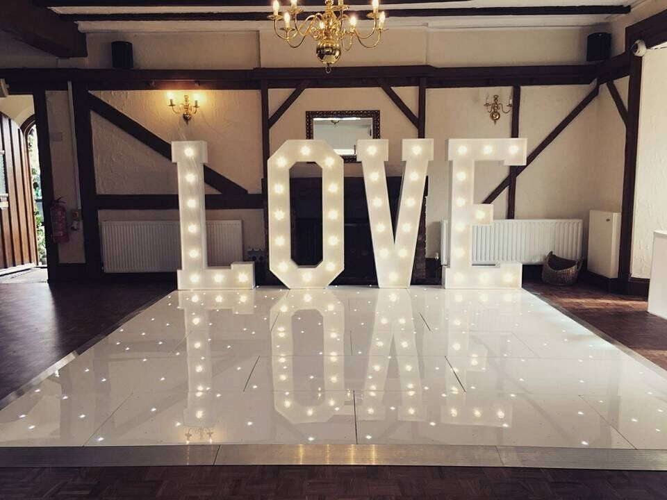 Hire our stunning White starlight dance floor 12 x 12, 14 x 14 or 16 x 16 competitive rates