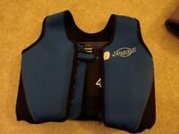blue swim jacket, 3-6yrs, body weight 18-30kg collect or can deliver within stonehaven