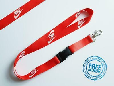 Nike Lanyard Neck Strap for Keys ID Card Holder - RED width 20mm, length 52cm