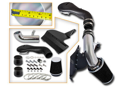 BCP BLACK 96-04 S-10/Blazer/Jimmy/Sonoma 4.3L V6 Cold Air Intake +Heat Shield (Blazer Cold Air Intake)