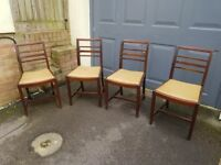 4 Mid Century Dining Chairs By Ercol - In Excellent Order
