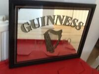 Small Guinness pub style mirror
