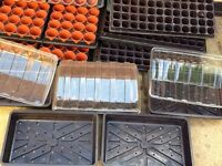 Selection of seed propagation trays and cloches