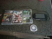 Sony psp with five games
