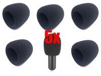 5x Black Mic Shield Microphone Windshield Microphone Pop Filter Foam Cover 40-45mm