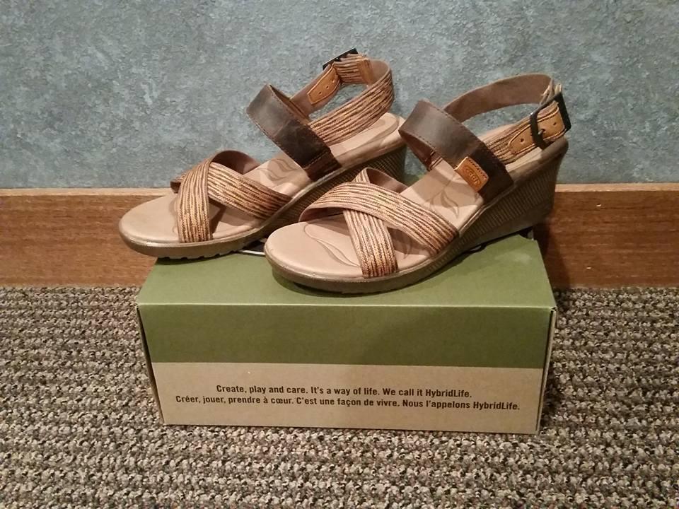 NIB Keen 1014314 Skyline Wedge Brown/Orange Sandal Size 11