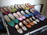Wholesale Joblot 1/3 - Womens Indian Khussa shoes Wedding Party 162 pairs per lot - RRP 10 per pair