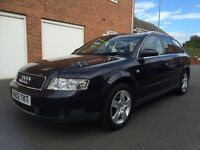 02 AUDI A4 AVANT **SPARES OR REPAIRS** FAULTY AUTO GEARBOX, ENGINE IS FINE NOT 320D A6 330D TOURING