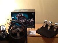 Logitech G25 steering/racing wheel