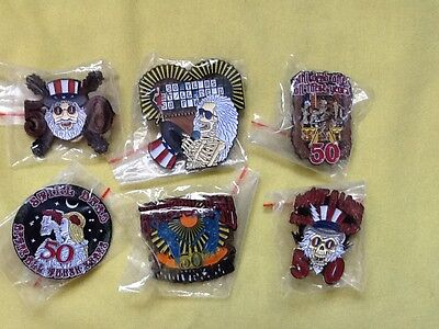 CLOSE OUT ! ! 12 PACK 6 DESIGNS JULY 2015 CHICAGO 50th ANNIV  GRATEFUL DEAD PIN