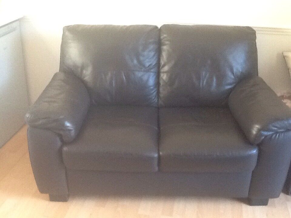 FOR SALE! Brown Leather 2 seater sofa £50