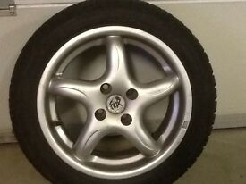 15INCH 4/100 FOX ALLOY WHEELS WITH TYRES FIT VAUXHALL ROVER VW TOYOTA RENAULT SEAT ETC
