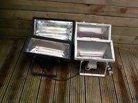 4 wall mounted heat lamps