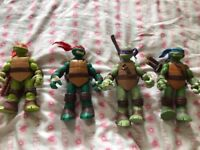 Large ninja turtles and shredder