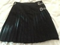 Excellent Quality Pure New Wool Black Scottish Kilt