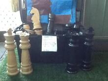 Chess set carved from Oregon wood Moora Moora Area Preview