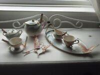 Franz Porcelain Papillion Butterfly Tea Set Service
