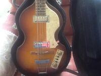 Tanglewood violin bass guitar