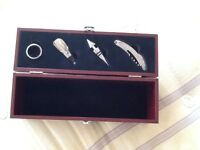 Wine gift box with wine opener