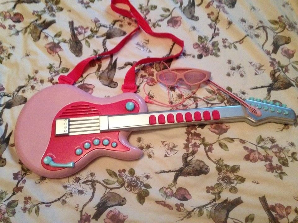 musical instrument toys pink guitar ELC TOYS