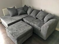COUCHES ON SALE DYLAN JUMBO CORD CORNER OR 3+2 SEATER SOFA SET AVAILABLE IN STOCK
