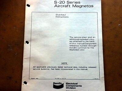 Bendix S-20 Series Magneto Overhaul Manual